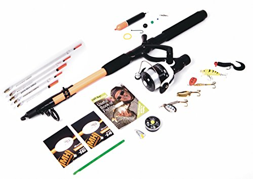 Matt Hayes Adventure (1.8m/6ft) Multi-Species All Round Telescopic Complete Fishing Set with Rod Reel Line Hooks and Spinners [99-6085050]