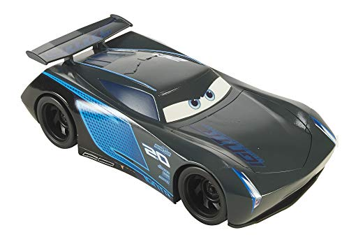Mattel FLK16 Disney Cars Jackson Storm Fahrzeug 50 cm, extra großes Auto, Spielzeug ab 3 Jahren