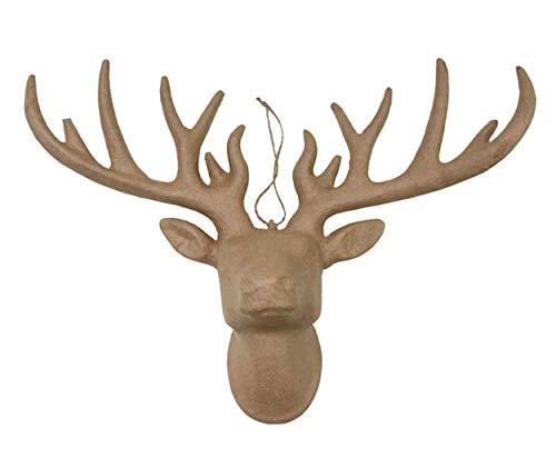 Papel maché cabeza de ciervo decoupage Craft reno 40 cm