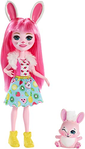 Enchantimals FXM73 Bree Bunny Doll and Twist Figure, Multi-Colour