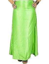 Winmaarc Satin Silk Saree Petticoat Underskirt Indian Lining for Sari