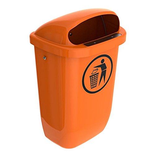 SULO Papierkorb Mülleimer Außenbereich DIN PK, Inhalt 50 l - Orange