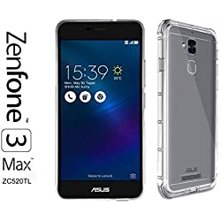 Asus Zenfone 3 MAX (ZC520TL) - Coque Housse étui silicone premium - Transparent - Air Cushion Corners (semi rigide - chocs absorption)