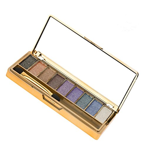 TWBB Lidschatten Glitter and Matte Nudes Ultra 9 Farbe Eyeshadows Flawless Palette Metallisch Auge Kosmetik Makeup Cosmetic Pinselset (A)