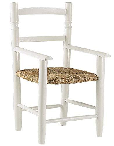 AUBRY GASPARD NFE 1260 Chaise Enfant en hêtre laqué Blanc
