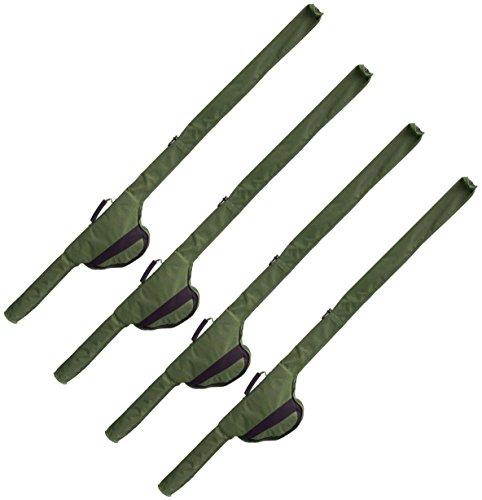 4 G8DS® Rutentaschen Sleeve für 12 ft Ruten auch passend für Big Pit Rollen Karpfenangeln Ausrüstung Meeresangeln (4) (Messer United Nylon)