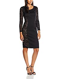 Gina Bacconi Wool and Animal Mesh Panelled, Vestido para Mujer