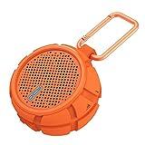 SOHOH Yinxiang Wasserdichter Bluetooth-Lautsprecher für den Außenbereich Doppelseitiger Superbass Tragbarer Mini-Subwoofer-Lautsprecher mit integriertem 1000 mAh-Akku (Farbe : Orange)