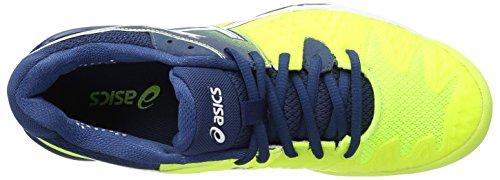 Asics Gel-Resolution 6, Scarpe da Ginnastica Uomo Giallo (Safety Yellow/White/Poseidon)