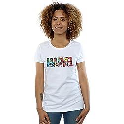 Marvel Comics Mujer Logo Character Infill Camiseta Blanco Small