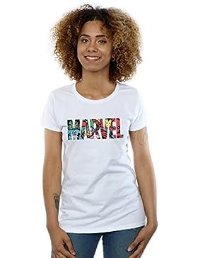 Marvel Comics Mujer Logo Character Infill Camiseta