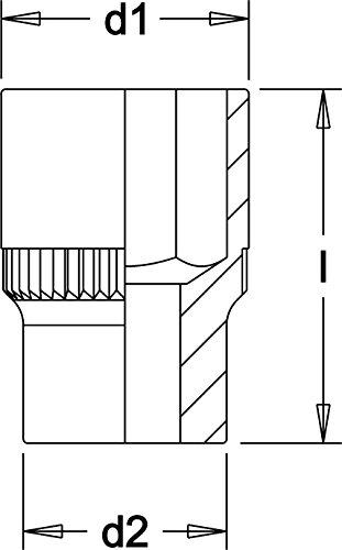 Elora 780A-2 Steckschlüssel-Einsatz 1 Zoll, Zwölfkant, 2 AF