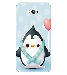 PrintDhaba Cute Penguin D-5297 Back Case Cover for ASUS ZENFONE MAX ZC550KL (Multi-Coloured)