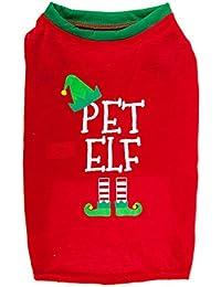 Red Elf Pyjamas Christmas Family PJs - Dad Elf Mum Elf & Little Elf