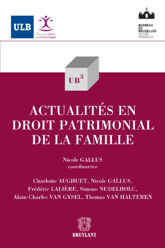 Actualités en droit patrimonial de la famille (UB3 t. 39)