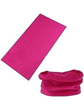 BazarAZ 1564 - [ROSA SCURO] Scaldacollo Simple - in Cotone elasticizzato - Ideale per Adulti e Bambini - Unisex...
