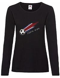 Urban Backwoods Costa Rica Football Comet Mujer Woman T-Shirt De Manga Larga Tamaños XS