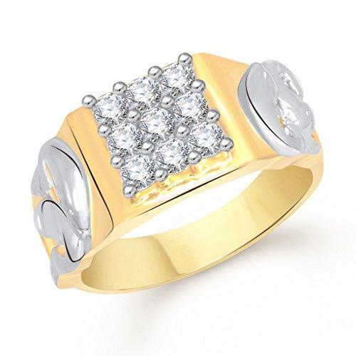 V. K. Jewels Vk Jewels Dual Dolphin Gold Brass Alloy Cz American Diamond Ring for Women Vkfr1477G20