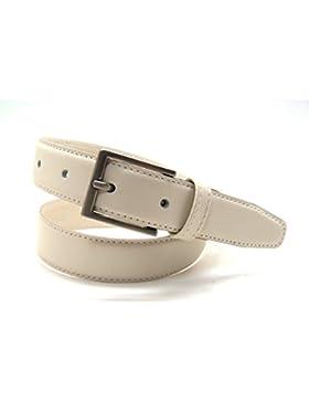 VAELLO - Cinturón básico de piel para vestir con forro de piel de excelente calidad, para niño