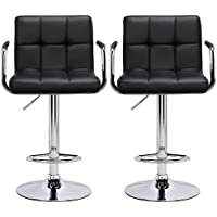 Yaheetech X-Large 41cm Base Bar Stools Set of 2 Kitchen Breakfast Bar Stools Bar Chair for Kitchens