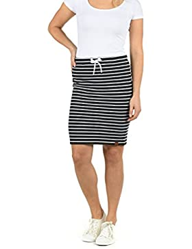 Desires Lene Falda Minifalda Falda Deportiva para Mujer con Estampado Elástica