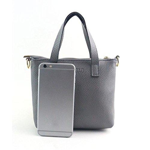 Mode Tasche Damen Tote Geldbörse Mädchen Grau kleiner Schulter Handtasche Damen VJGOAL Geschenk Mini Schultertasche Frau rHHPnvzI