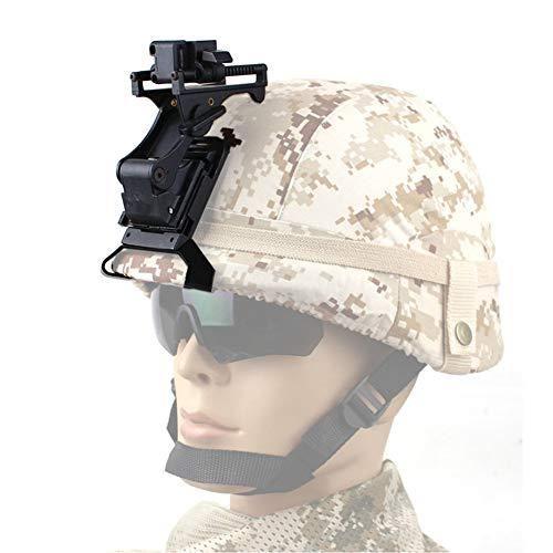WTZWY Accesorios para Cascos, Kits de Montaje de Cascos Militares para Cascos tácticos de Airsoft, Gafas de visión Nocturna montadas en NVG PVS-14 / PVS-7 (Negro)