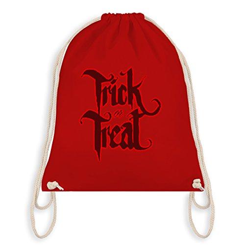 Halloween - Trick or Treat Halloween Typo - Unisize - Rot - WM110 - Turnbeutel & Gym Bag