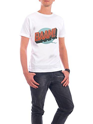"""Design T-Shirt Männer Continental Cotton """"BAAM!"""" - stylisches Shirt Typografie Comic von Bastian Groscurth Weiß"""