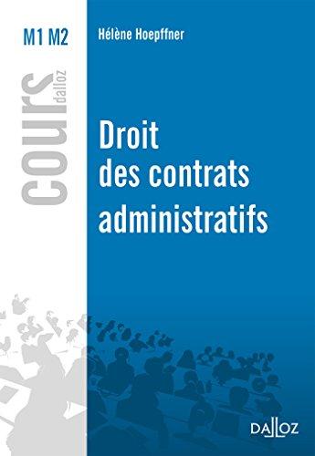 Droit des contrats administratifs - Nouveauté