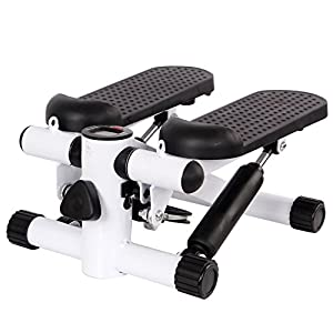 41rn3oXHVNL. SS300  - Ardisle Mini Stepper Stepping Legs Arm Thigh Exerciser Fitness Toner Resistance Up Down