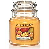 Yankee Candle 1114682E Bougie parfum senteur Mangue et pèche Rouge