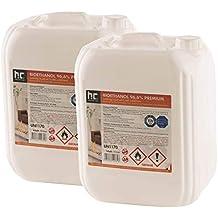 Höfer Chemie 6 x 10 L Bioethanol 96,6% Premium - TÜV SÜD zertifizierte QUALITÄT - für Ethanol Kamin, Ethanol Feuerstelle, Ethanol Tischfeuer und Bioethanol Kamin