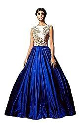 Lovisa Fashion New Blue Embroidered Dress Materials(NEW19_Blue)