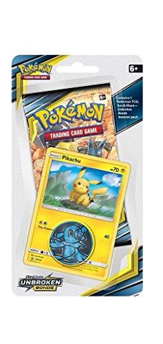 Lively Moments Pokemon Karten Blister Sun&Moon Unbroken Bonds 1er - Pack Booster Pikachu Blister EN Englisch