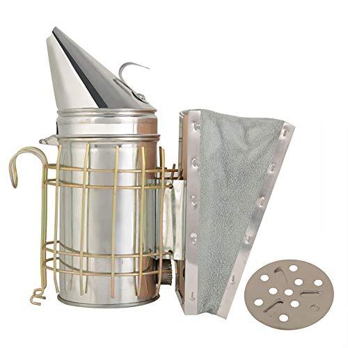 Beehive Smoker, Beehive Smoker aus verzinktem Eisen mit Hitzeschild-Imkereiausrüstung - Überragender Luftstrombalg und hervorragende Rauchentwicklung für die Imkerei