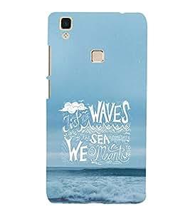Print Masti Designer Back Case Cover for Vivo V3 (Waves Sea Ocean Sky Just )