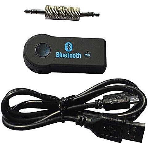 Cuitan Universal Inalámbrico Wireless Bluetooth V3.0 Audio Receptor con 3.5 mm Estéreo Entrada Construir-en el Micrófono Manos libres Llamadas Bluetooth Coche Receiver Car Kits Audio Música Adaptador para Televisión, Radio, Móvil, Tablet, Laptop, PSP,