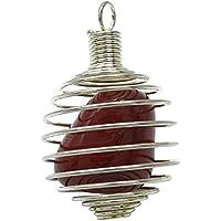 HARMONIZE HarmonizeSpiral Caged Red Jaspis-Stein-Anhänger Reiki Kristall Edelstein Spirituelle Geschenk preisvergleich bei billige-tabletten.eu