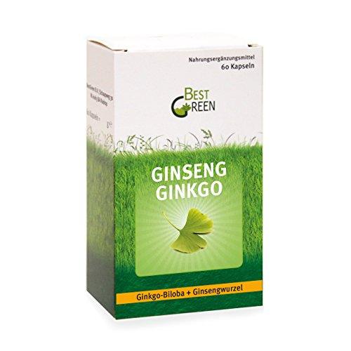 Ginseng Ginkgo I 60 hochdosierte Kapseln I Ginkgo-Biloba + Ginsengwurzel I 2 Monatsvorrat (Ginkgo Biloba-60 Kapseln)
