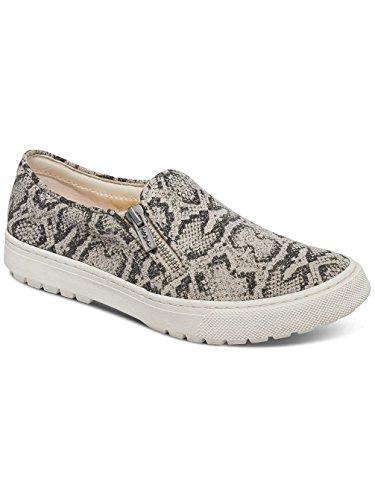 Roxy Juno - Chaussures slip-On zippées pour femme ARJS300256 Black/White