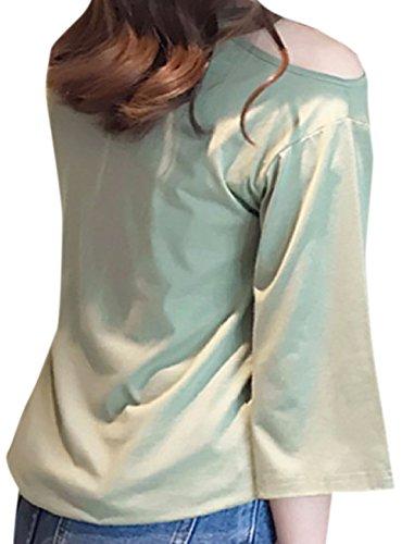 erdbeerloft - Damen Shirt mit Cartoon Print, XS-2XL, Viele Farben Pastellgrün
