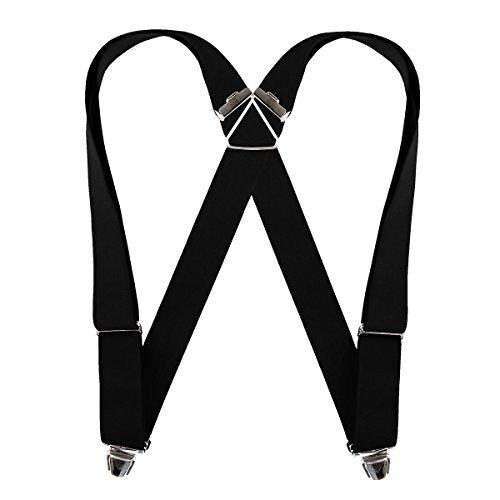 Biclip Hosenträger schwarz, Körpergröße:ab 1.80 m - 130 cm