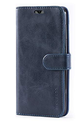 Mulbess Handyhülle für Samsung Galaxy A20 Hülle, Leder Flip Case Schutzhülle für Samsung Galaxy A20 / A30 Tasche, Dunkel Blau