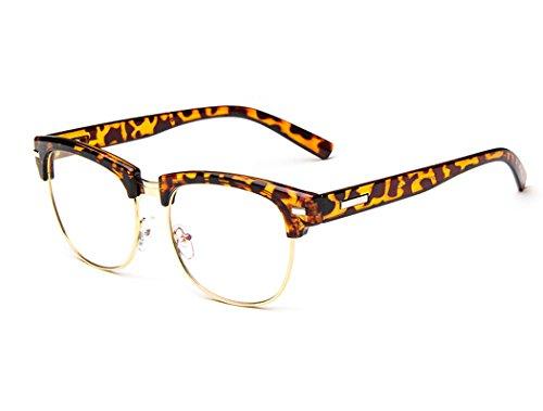 Sunbo Vintage Version de la Tendance de Simples Sauvages Cadre de Miroir Simple Leopard Couleur