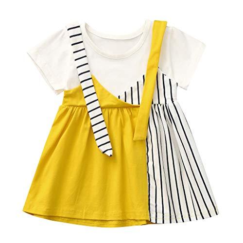 Julhold Kleinkind Baby Kinder Mädchen Niedlichen Streifen Patchwork Casual Dress Prinzessin Kleider Sommer Neu 0-4 Jahre