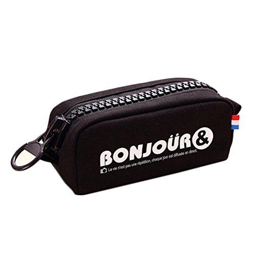 Le meilleur cadeau grande toile Zipper Pencil Case Papeterie Pen Sac pochette No