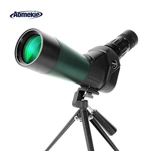 Aomekie Spektiv Vogelbeobachtung Jagd Sportschützen 20-60x60 mit Stativ