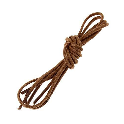 Les lacets Français - Lacets Ronds Coton Ciré Couleur Cuivre