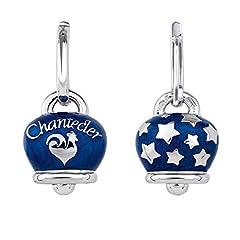 Idea Regalo - Chantecler / Et Voilà / orecchini campanelle / argento e smalto blu